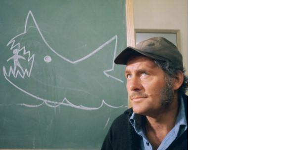 Primary image for Jaws HB Robert Shaw Vintage 11X14 Color Movie Memorabilia Photo