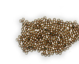 2.5mm Round Bright Goldtone Metalized Metallic Beads - $6.47