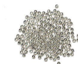 2.5mm Round Bright Silvertone Metalized Metallic Beads - $6.47