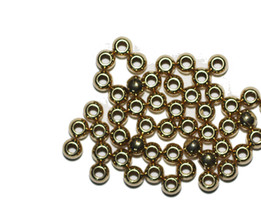 5mm Round Bright Goldtone Metalized Metallic Beads - $6.47