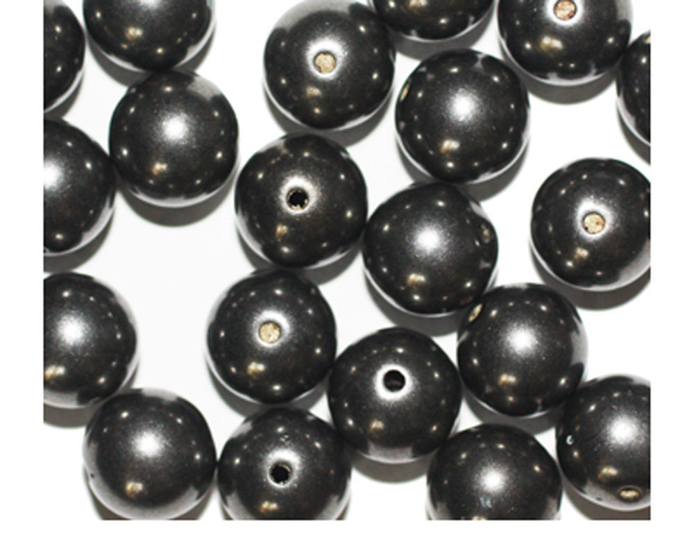 Primary image for 10mm Round Gunmetal Gray Metalized Metallic Beads