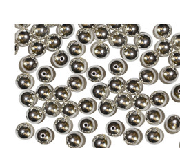 6mm Round Bright Silvertone Metalized Metallic Beads - $6.47