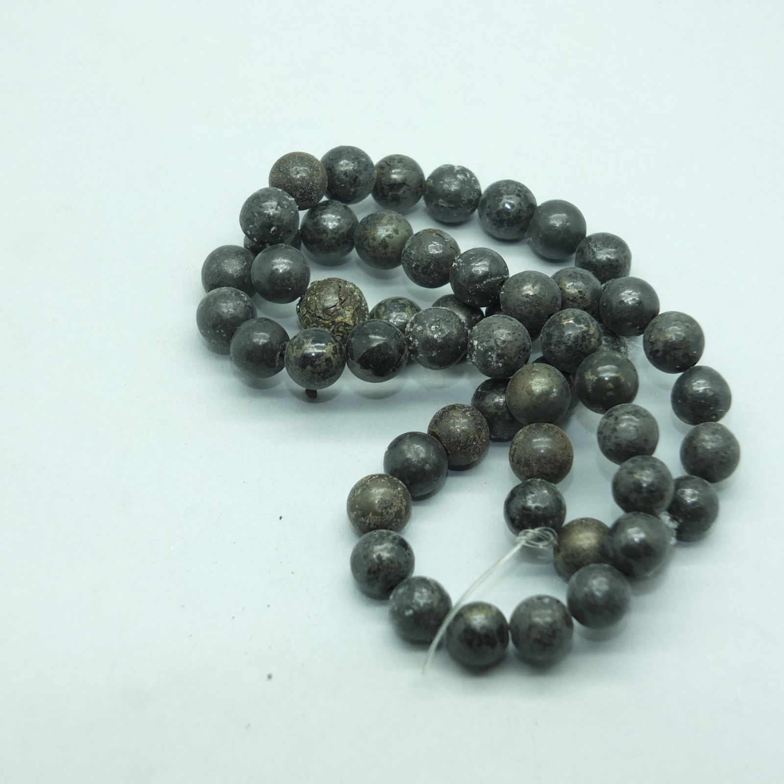 Primary image for 8mm Pyrite Semi Precious Stone Gem Beads