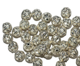 8mm Round Star Bright Silvertone Metalized Metallic Beads - $6.47