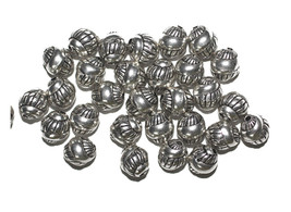9mm Snail Swirl Antiqued Silvertone Metalized Metallic Beads - $6.47