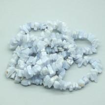 Blue Lace Agate Chips Semi Precious Stone Gem Beads - $9.00