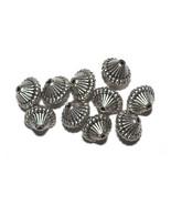 14mm Mushroom Antiqued Silvertone Metalized Metallic Beads - $6.47
