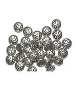 10mm Lentil Crater Antiqued Silvertone Metalized Metallic Beads - $6.47