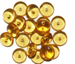 Topaz Wafer Czech Pressed Glass Beads 10mm (pack of 16) (pack of 20) - $6.49