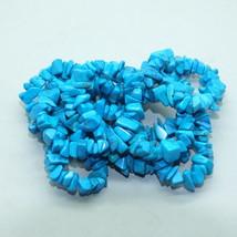 Blue Howlite Chips Semi Precious Stone Gem Beads - $9.00