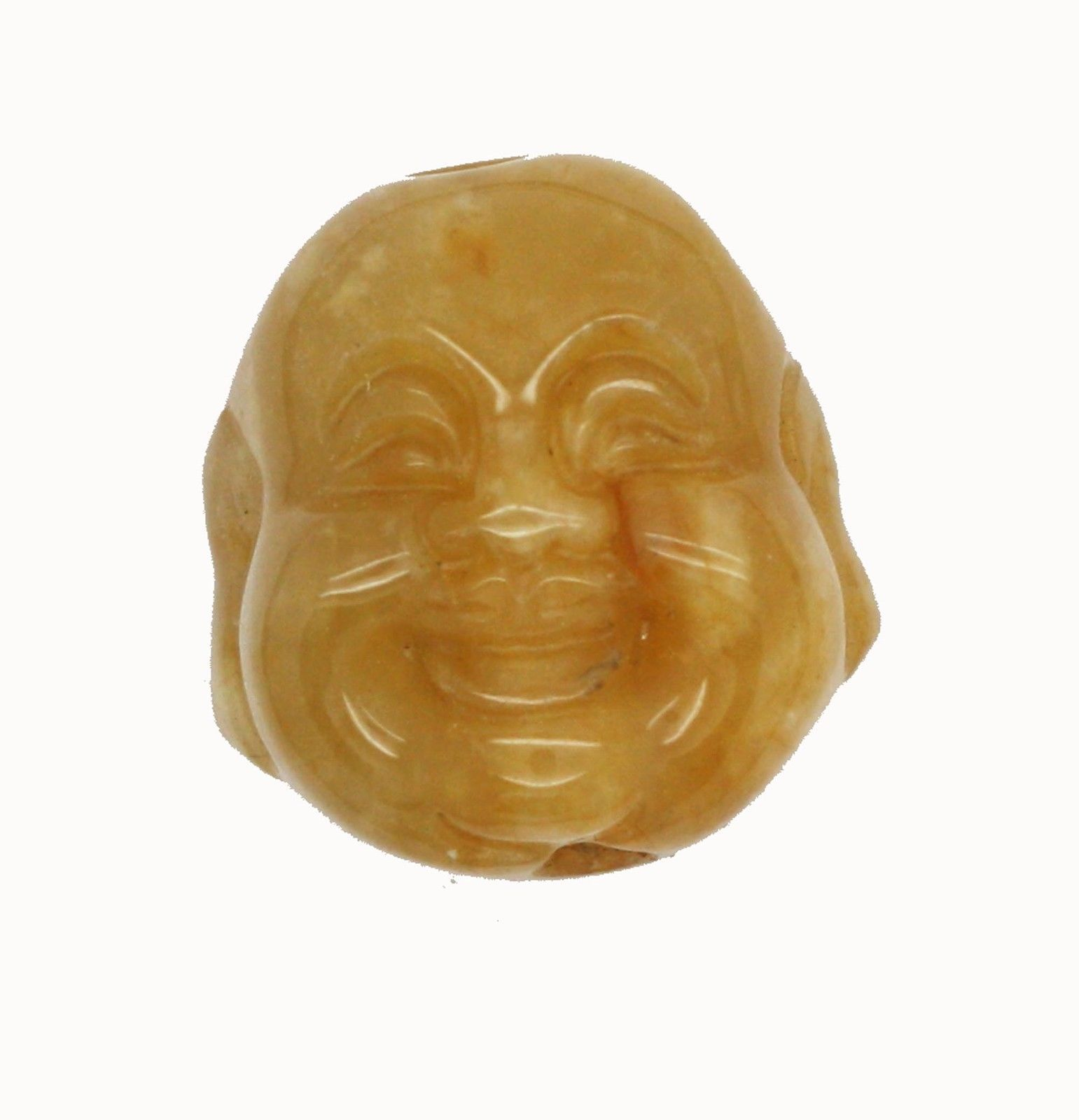 Primary image for Smiling Buddha Bead Dimensional Bead Polished Stone Pendant Necklace Ornament