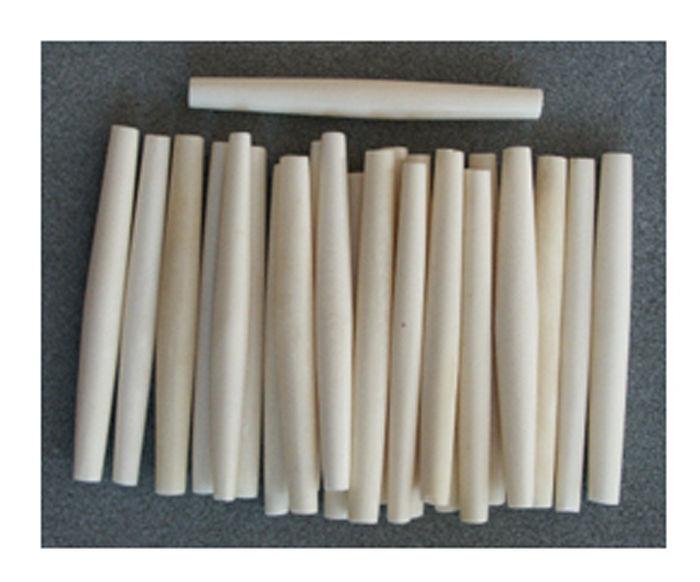 """3"""" HORN BONE HAIR PIPE CHOKER BREASTPLATE WHITE pk/25 - $27.00"""