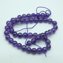 8mm Light Amethyst Semi Precious Stone Gem Beads - $17.00