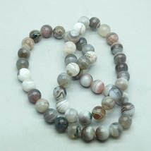 8mm Botswana Agate Semi Precious Stone Gem Beads - $17.00