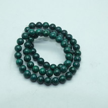 6mm Green Fossil Stone Gem Beads - $9.00