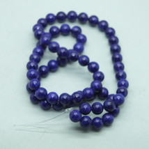 6mm Purple Fossil Stone Gem Beads - $9.00