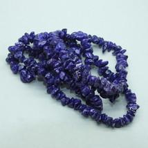Purple Fossil Chip Stone Bead Strand - $9.00