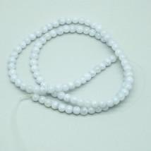 4mm Blue Lace Agate Semi Precious Stone Gem Beads - $17.00