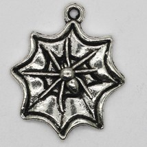 Spider Cobweb Pendant Charm Tibet Design Silver Metal 15mm Pack of 4 - $6.98