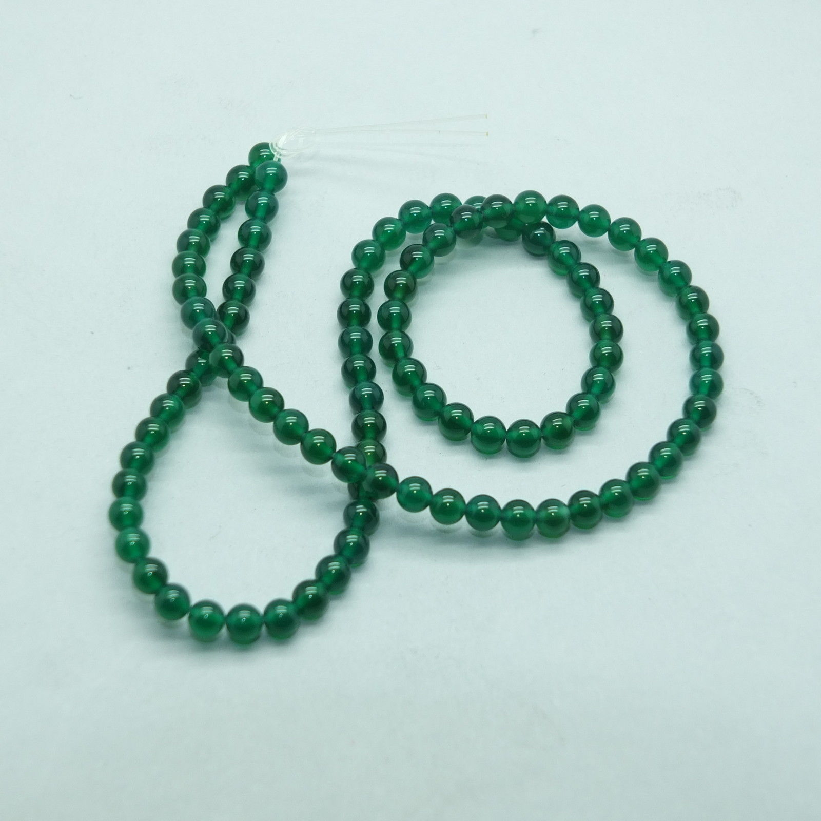 Primary image for 4mm Green Agate Semi Precious Stone Gem Beads