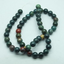 8mm Blood Jasper Semi Precious Stone Gem Beads - $17.00