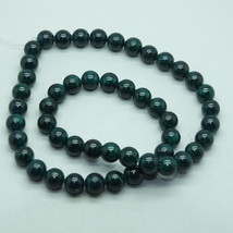 8mm Green Fossil Stone Gem Beads - $12.00