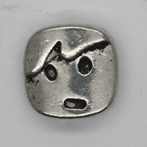 Cute Cheeky Boy Child Kid Face Bead Tibet Design Silver Metal 10mm Pack of 6 - $4.98
