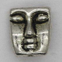 Arty Face Masked Bead Tibet Design Silver Metal 20mm Pack of 5 - $5.98