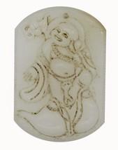 Big Buddha Carved Relief Stone Pendant Asian Design Necklace Ornament Ke... - $14.97
