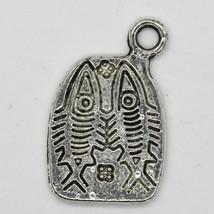 Pisces Double Fish Charm Pendant Tibet Design Silver Metal 18x12mm Pack ... - $5.98