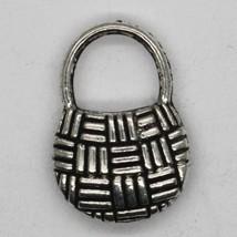 Handbag Purse Basket Charm Tibet Design Silver Metal 15x10mm Pack of 6 - $4.98
