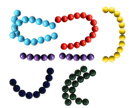 FOSSIL BEADS 4mm 6mm 8mm RED PURPLE GREEN BLUE GRAY... - $3.79+