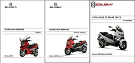 Gilera Nexus 500 / euro 3 Scooter Service Repair Workshop & Parts Manual CD - $12.00