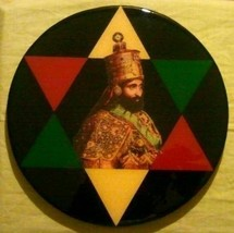 Star of David Plaque of Haile Selassie I Crowned King of Kings in Ethiopia - $105.21
