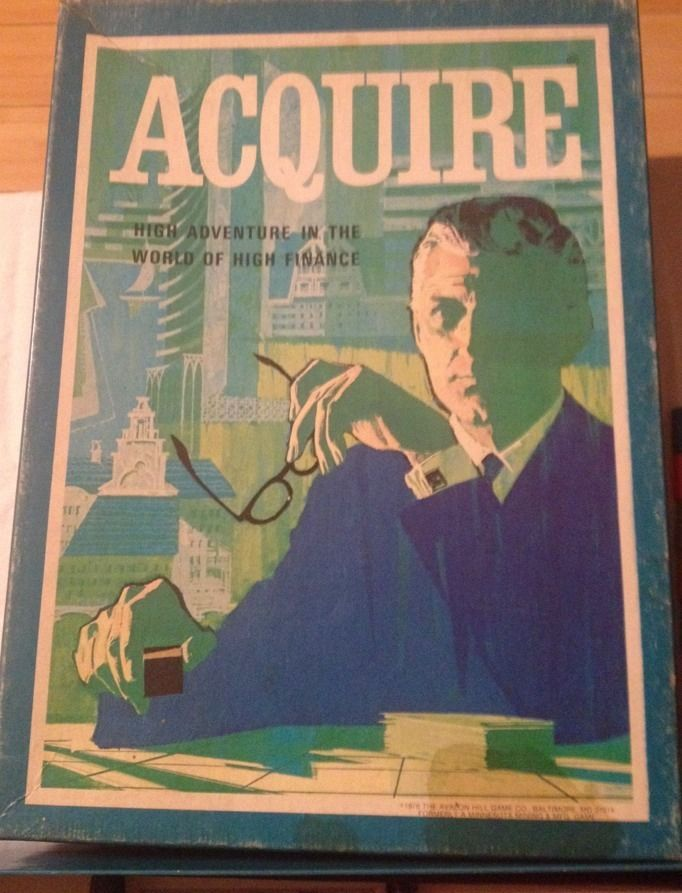 Vintage 1981 Acquire High Finance Wealth Board Game 3M Bookshelf Complete