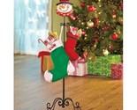 Freestanding snowman stocking hanger 2 thumb155 crop