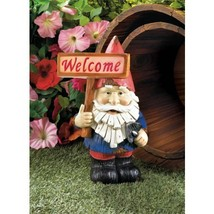 WELCOME GNOME SOLAR STATUE - $24.00