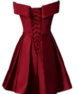 Ball Gowns Burgundy Satin Short Homecoming Dress Fashion Party Gowns Coc... - $68.88