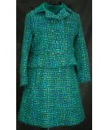 Vintage 1960s Peck & Peck Green Velvet Wool Jacket and Dress with Origin... - $89.99