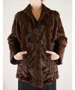 Vintage Rich Dark Chocolate Brown Mink Fur Coat - $169.99