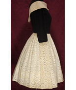 Vintage Minx Modes Black and Beige Lace Skirt and Bodice Dress - $54.99
