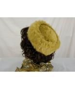 Vintage Joseph Magnin Caramel Brown Fur Pillbox Hat - $39.99