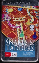 Snakes &  Ladders Board Game and Tin - $4.00