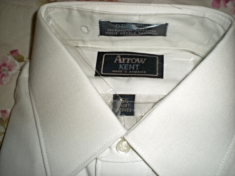Primary image for Men's Dress Shirt -Short Sleeve Dress Shirt By Arrow -Color White (15.5)