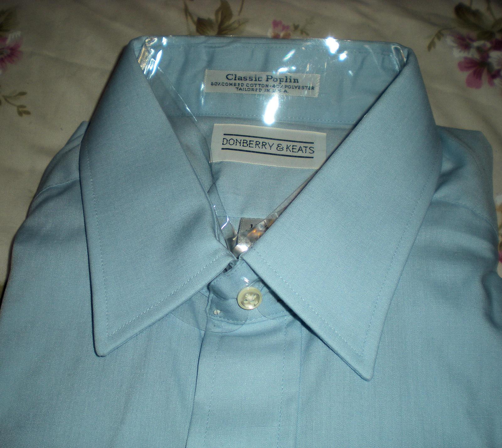 Men's Dress Shirt-Short Sleeve  By Donberry & Keats -Color Ligh Blue  (15.5)
