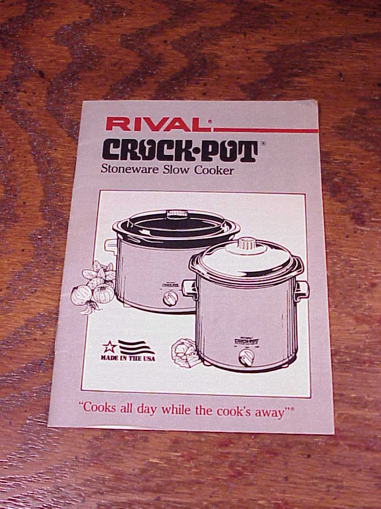 rival crockpot stoneware slow cooker instruction manual cookbook booklet only cookers   steamers rival crock pot instruction manual rival crock pot stoneware slow cooker instruction manual