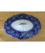 Antique Grindley Grace Pattern Flow Blue Oval Covered Vegetable Serving ... - $75.00