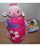 Disney Doc McStuffins Plush Lambie with Fleece Throw Plush Lamb NEW - $21.99