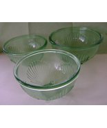 Reproduction Green Glass Bowls, Set of 3 - $30.00