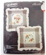 Charmin Counted Cross-Stitch Summer Flowers Pillow Kit NEW 00-94 Janlynn... - $28.37